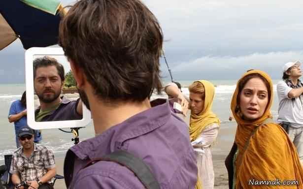 بهرام رادان و مهناز افشار در فیلم پل چوبی