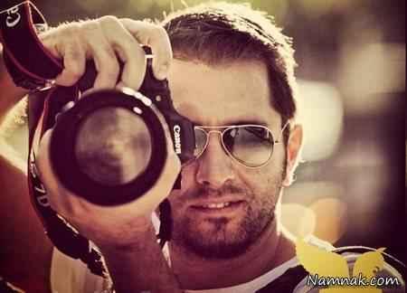بهرام رادان با دوربین عکاسی