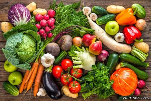 چاقی صورت با سبزیجات