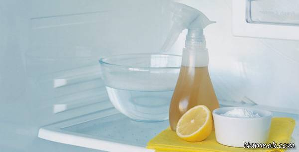رفع بوی بد یخچال با سرکه