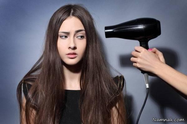 روش خشک کردن مو