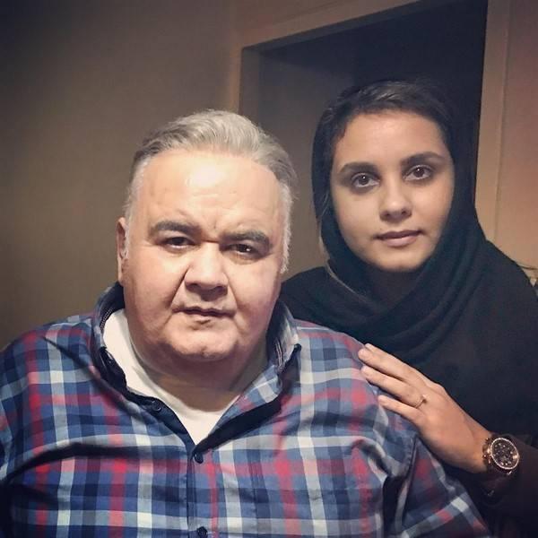 اکبر عبدی و دخترش