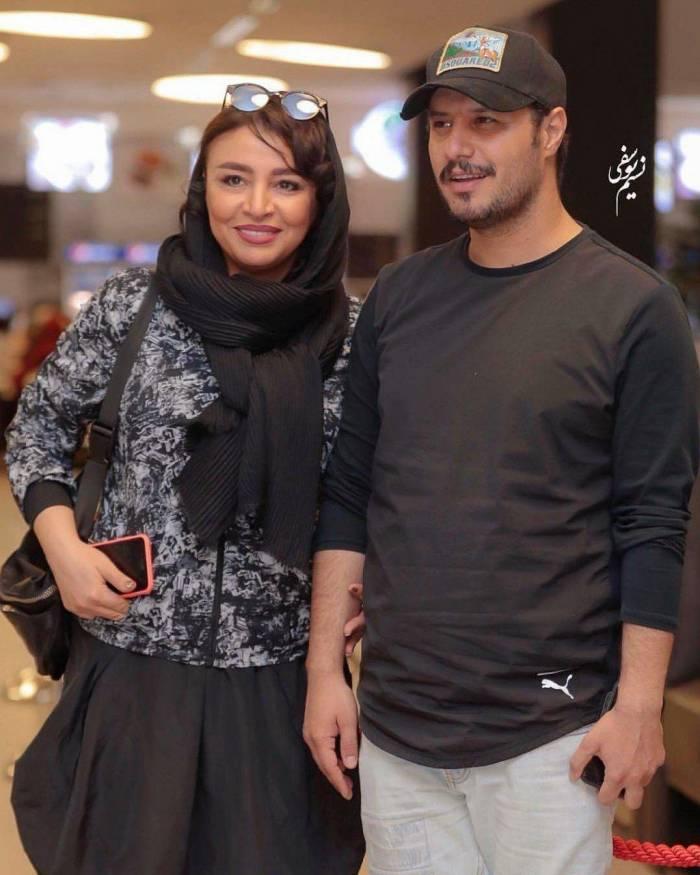 جواد عزتی و همسرش