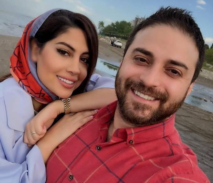 بابک جهانبخش و همسر