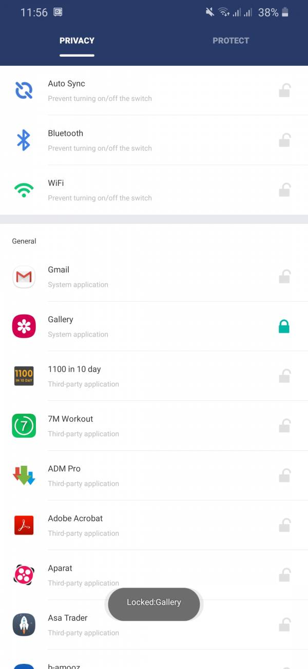 برنامه app lock