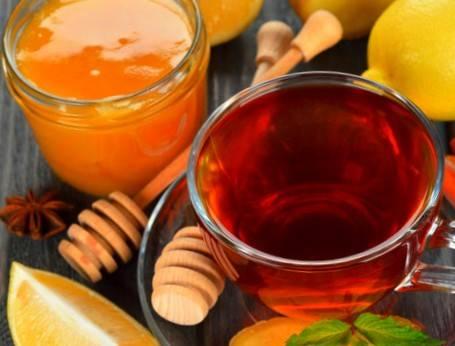 چای لیمو عسل برای گلودرد
