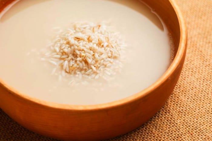 آب برنج برای مو