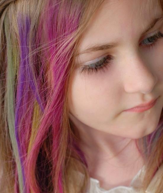 رنگ کردن مو کودک