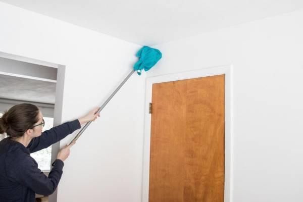 تمیز کردن دیوار رنگ روغنی