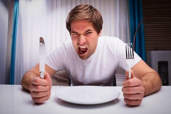 عصبانیت در گرسنگی