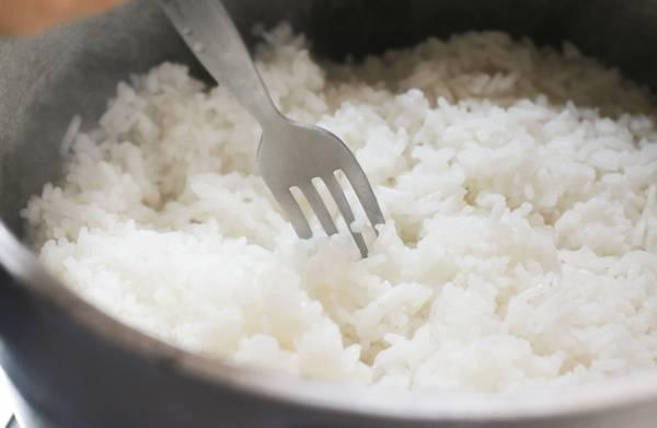گرم کردن برنج