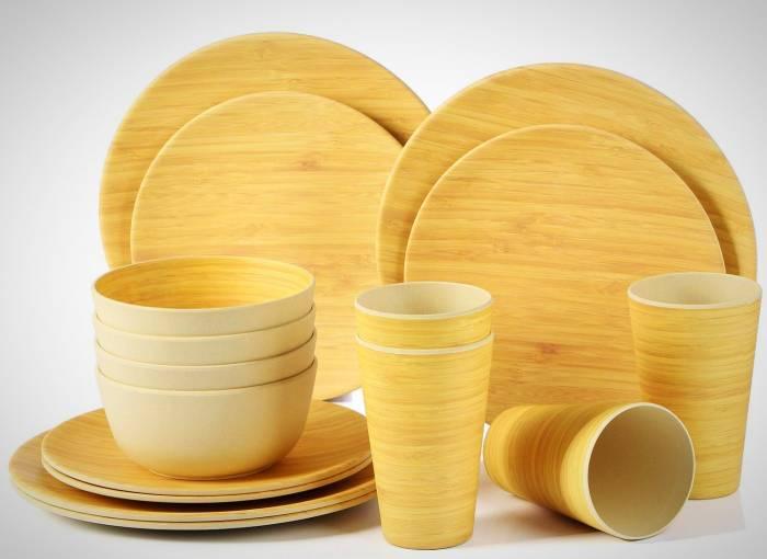 ظروف چوبی بامبو
