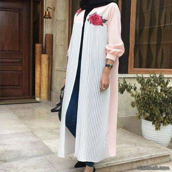 مدل مانتو بلند دخترانه شیک اینستاگرام