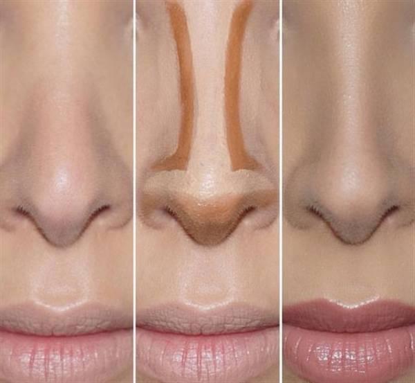 کوچک کردن بینی از تکنیک های آرایش حرفه ای در خانه + تصاویر