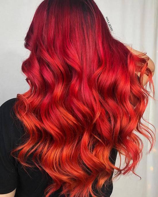 رنگ مو آتشی