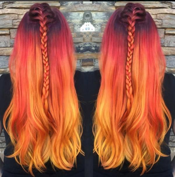 رنگ مو فانتزی بدون دکلره
