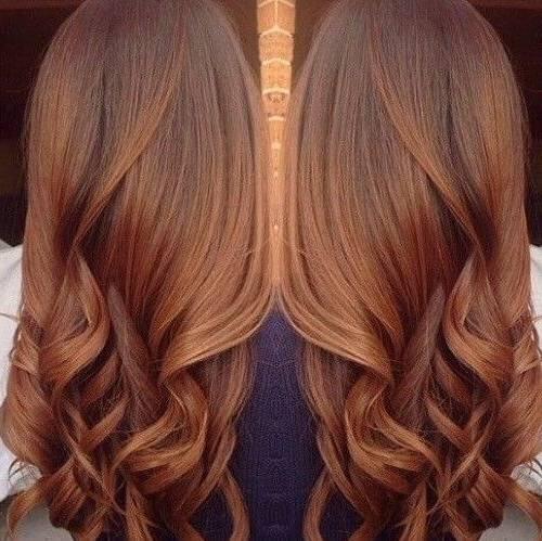 رنگ موی موکای گرم