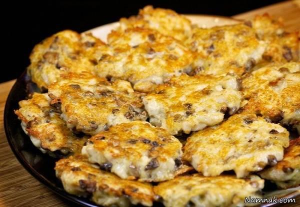 کتلت مرغ با پنیر