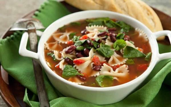 سوپ سبزیجات با ریحان
