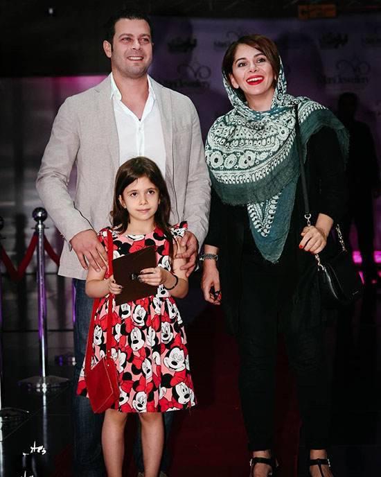 پژمان بازغی و همسر و دخترش
