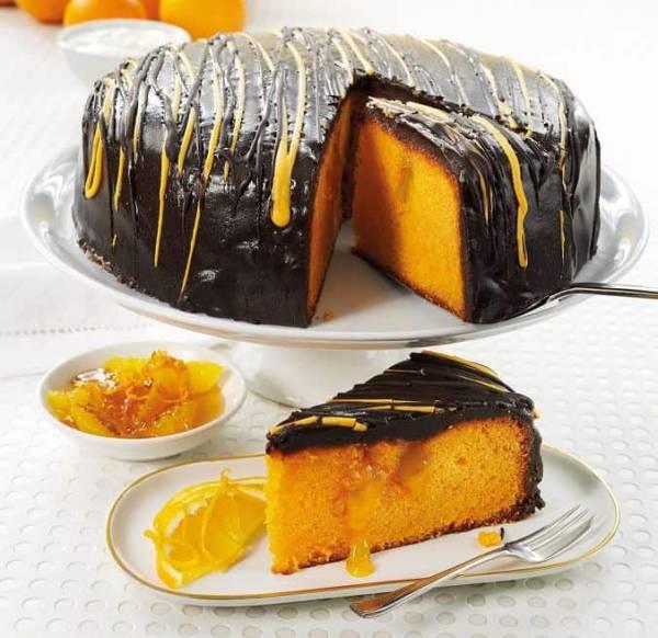 کیک پرتقال و کاکائو