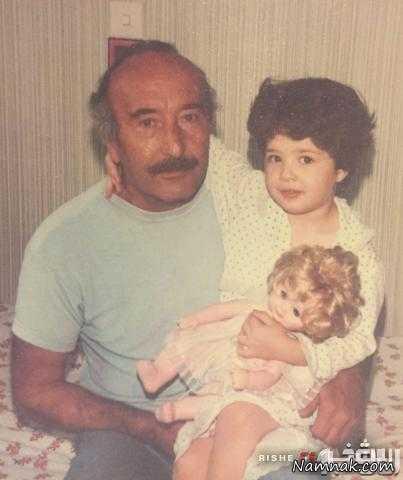مهراوه شریفی نیا و پدر بزرگش