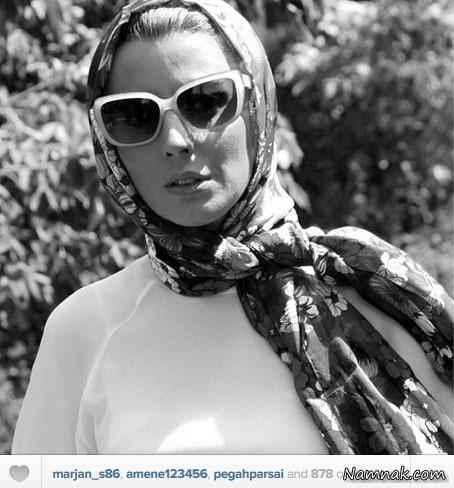 عکس سیاه و سفید لیلا حاتمی