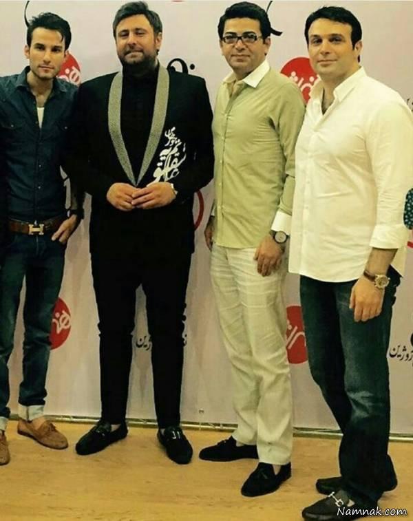 محمد علیزاده و فرزاد حسنی در کنار مهدی احمدوند