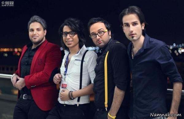 مهدی احمدوند در کنار علی عبدالمالکی و دوستان