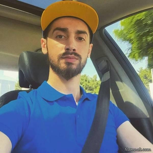 سلفی سامان جلیلی در ماشینش