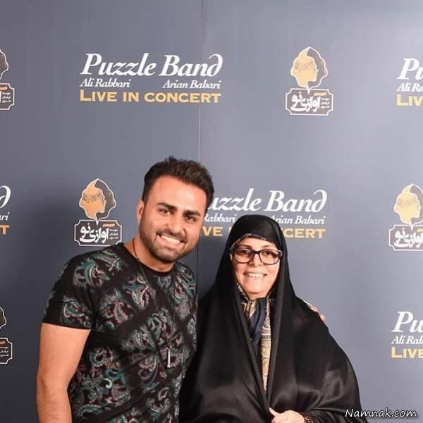 علی رهبری و مادرش