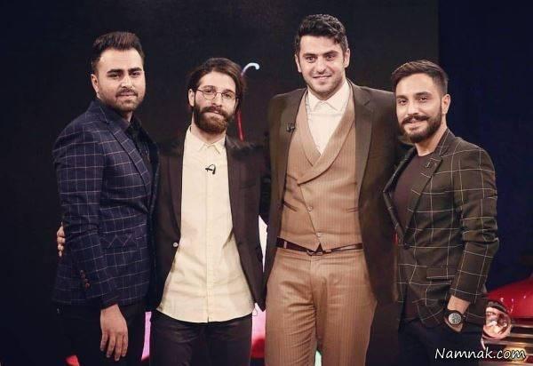 علی ضیا و حمید هیراد در کنار علی رهبری و آرین بهاری