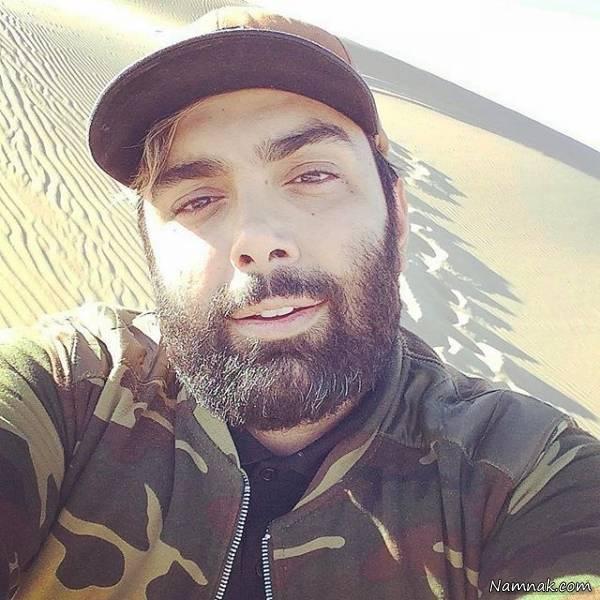 مسعود صادقلو در صحرا