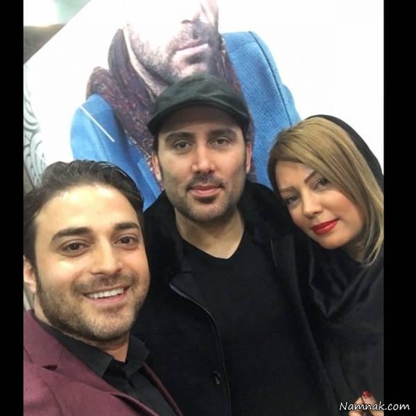 سلفی بابک جهانبخش با نیما مسیحا و همسرش