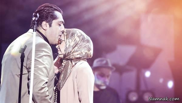 بوسیدن صبا راد توسط همسرش