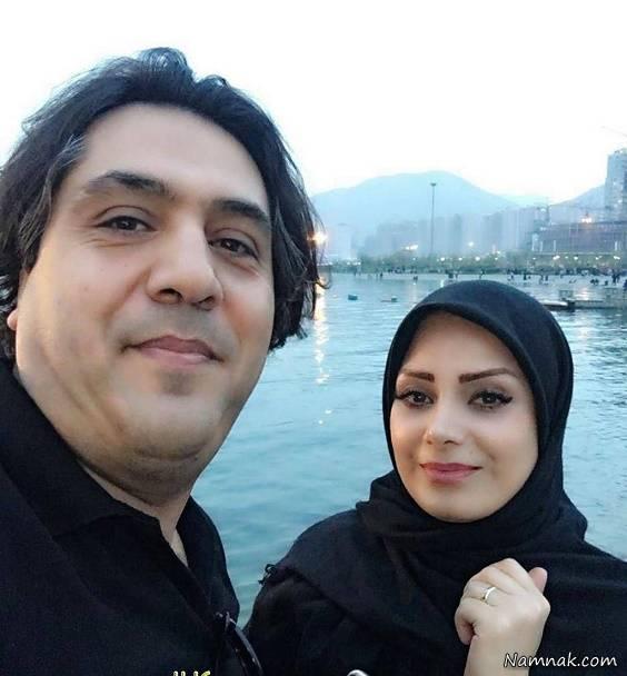 سلفی مانی رهنما و همسرش
