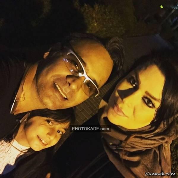 سلفی شهرام شکوهی با همسر و دخترش