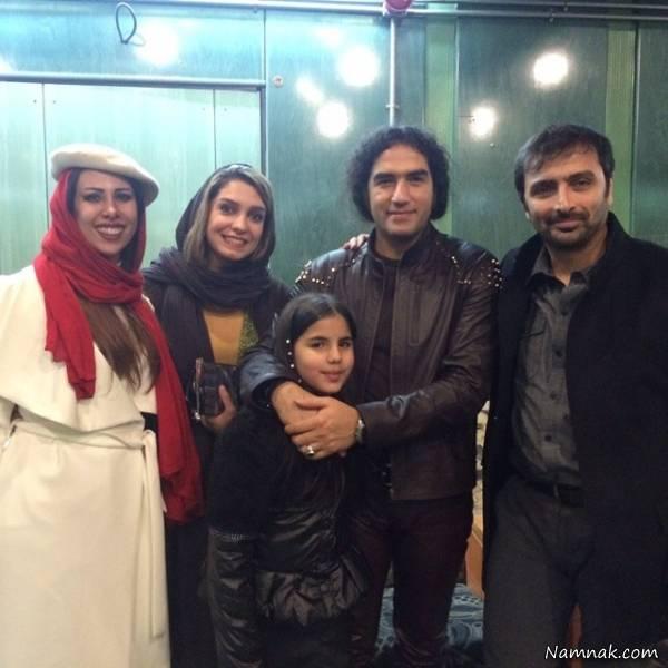 رضا یزدانی و همسرش در کنار الیکا عبدالرزاقی و همسرش امین زندگانی