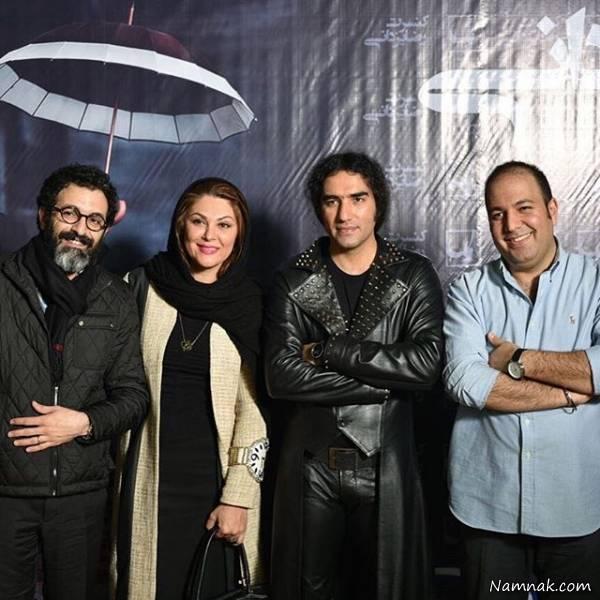 لاله اسکندری و همسرش در کنار رضا یزدانی و علی اوجی