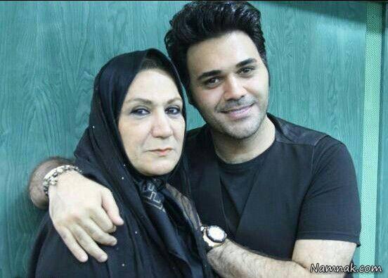 پوریا حیدری و مادرش