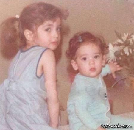 کودکی عسل بدیعی و خواهرش