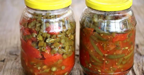 لوبیا سبز با گوجه