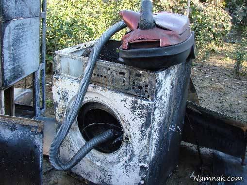آتش گرفتن لوازم خانگی