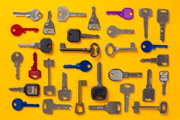 رنگ کردن کلید