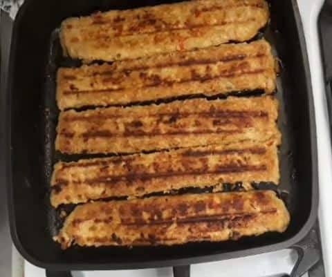 کباب ماهیتابه ای مرغ