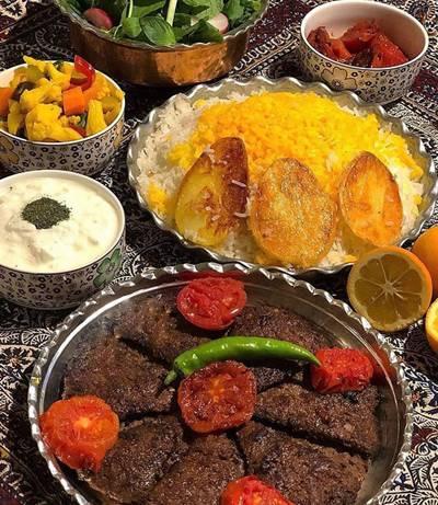 پخت کباب تابه ای زعفرانی