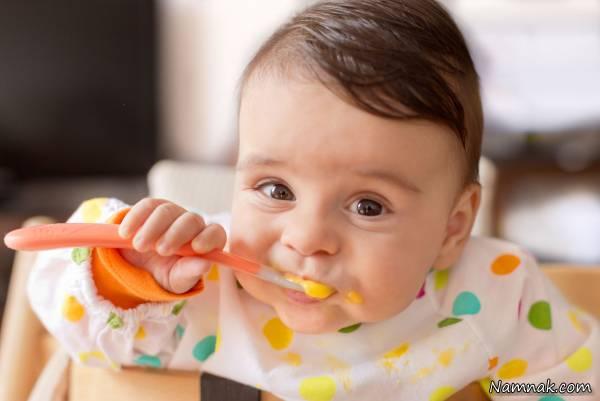 تغذیه کودک در شش ماهگی
