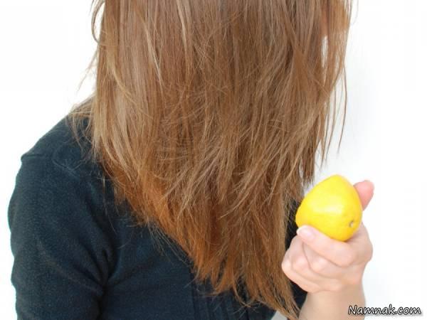 لیمو ترش برای مو