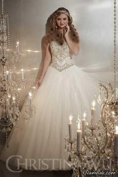 لباس عروس سنگ دوزی شده