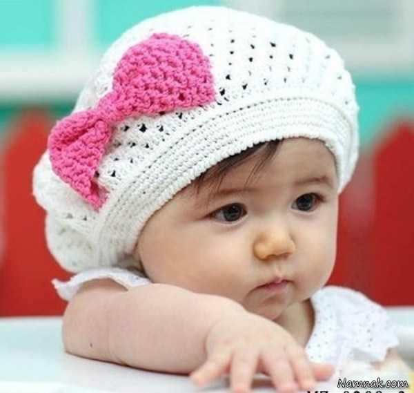 مدل شال و کلاه بافتنی دخترانه با قلاب